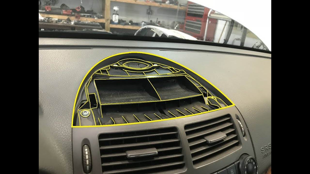 Mercedes Benz E Class 2003 2009 W211 - Front Center Speaker Grille Removal