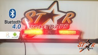 Youtube star light bars m2 bluetooth led rear chase light mozeypictures Choice Image