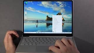 How to Lock/Unlock Taskbar on MICROSOFT Surface Laptop Go - Taskbar Settings