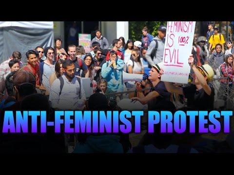 ANTI-FEMINIST PROTEST PRANK!