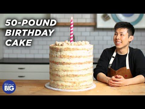 I Made A Giant 50-Pound Birthday Cake