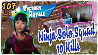 Ninja Brilliant Striker Skin Fortnite Game Play Season 5 Solo Squad