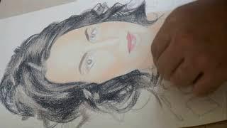 Портрет Пастелью. Speed Drawing.