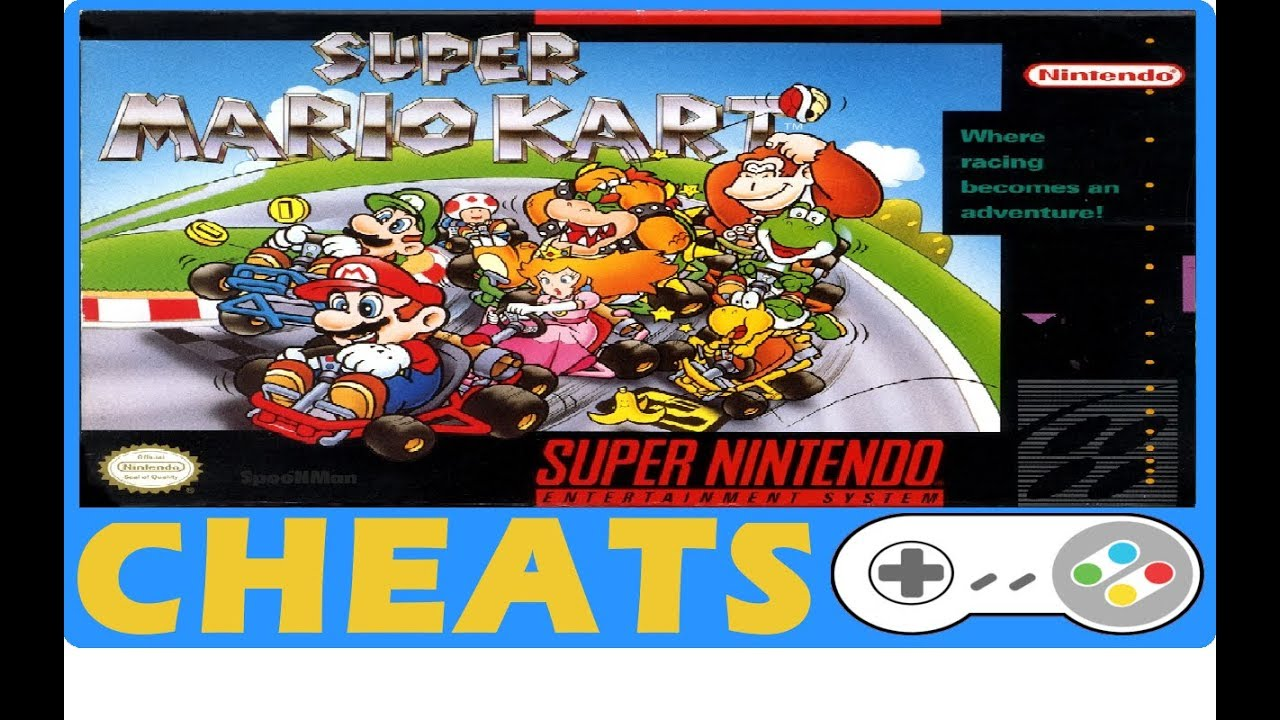 Super Mario Kart (<b>SNES</b>) Cheats + Action Replay | <b>Game Genie Codes</b> ...