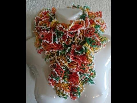 TUTO écharpe froufrou au tricot - YouTube