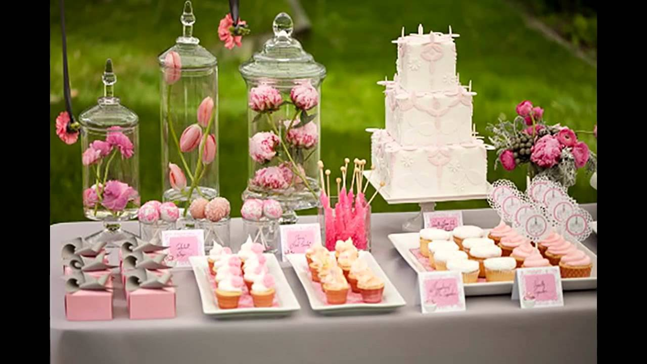 Simple baby shower themes decorations ideas youtube for Baby shower decoration online