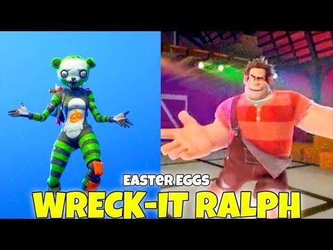 Wreck It Ralph Dancing HOT MARAT EMOTE & Traveling (Easter Eggs) Fortnite Battle Royale