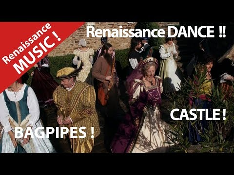 Renaissance Music ! Ancient dance with Costumed Period Dancers in a Castle in Britanny.