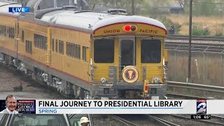George H.W. Bush's complete train ride from Spring to College Station