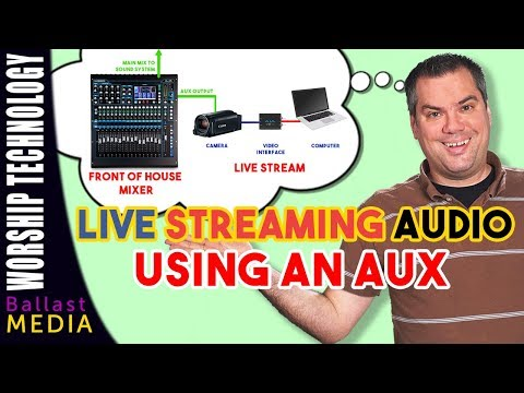 Live Streaming Audio - How To Use An Aux Mix