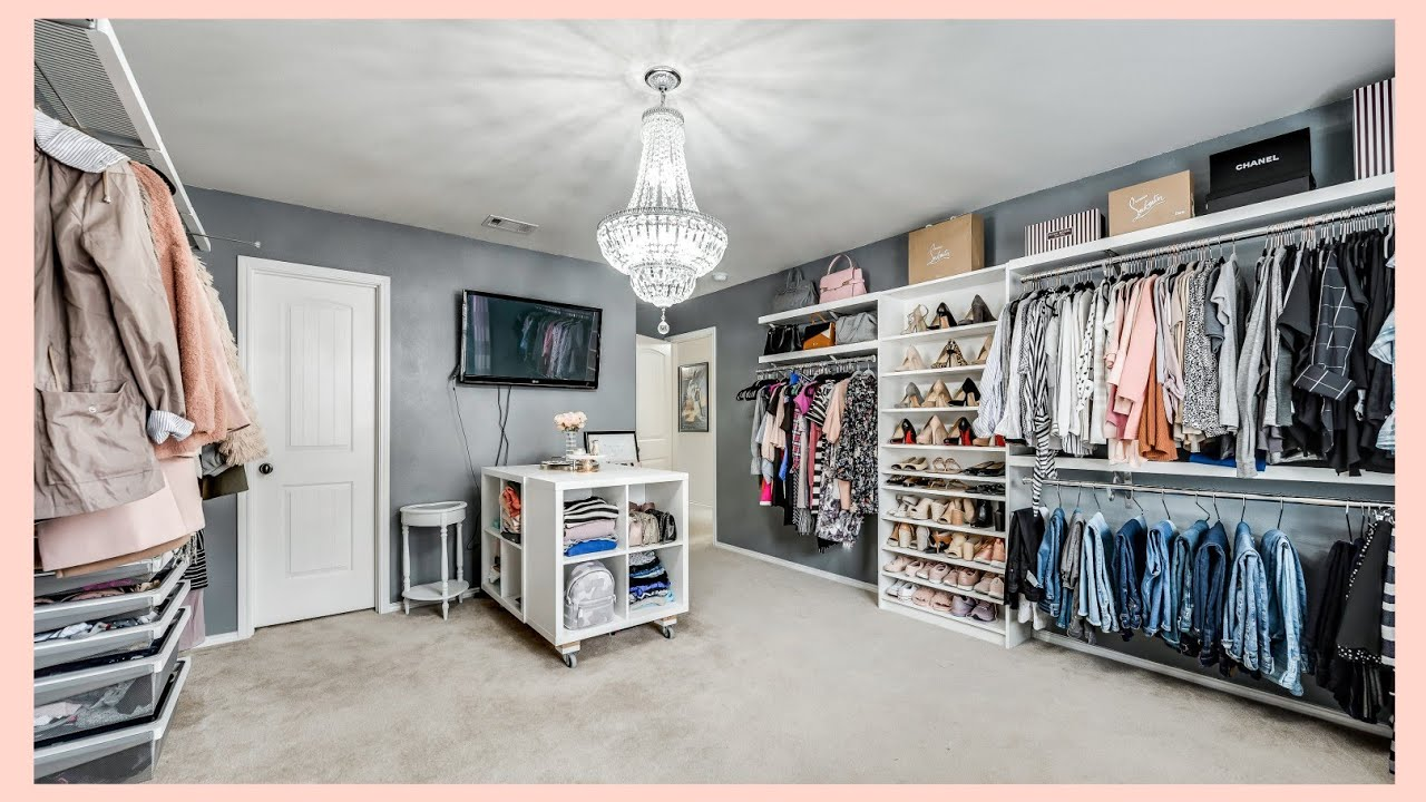 My Dream Dressing Room Tour Bedroom Makeover Walk In Closet Tour Youtube