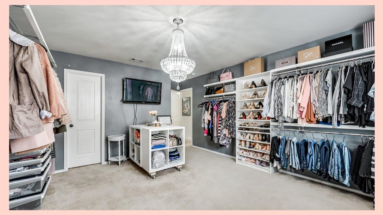 my dream dressing room tour bedroom makeover walk in closet tour
