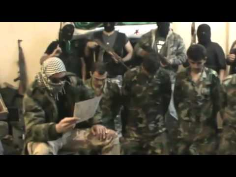 Syria -The Free syrian army captures Assad's soldiers in Damascus 04.05.2011