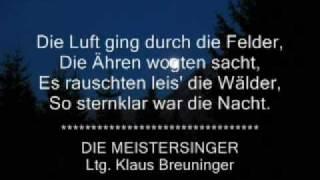 """DIE MEISTERSINGER -  """"Mondnacht"""" von August Pannen:"""