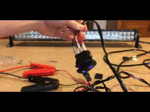 MICTUNING 2 Lead LED Light Bar Wiring Harness - YouTube