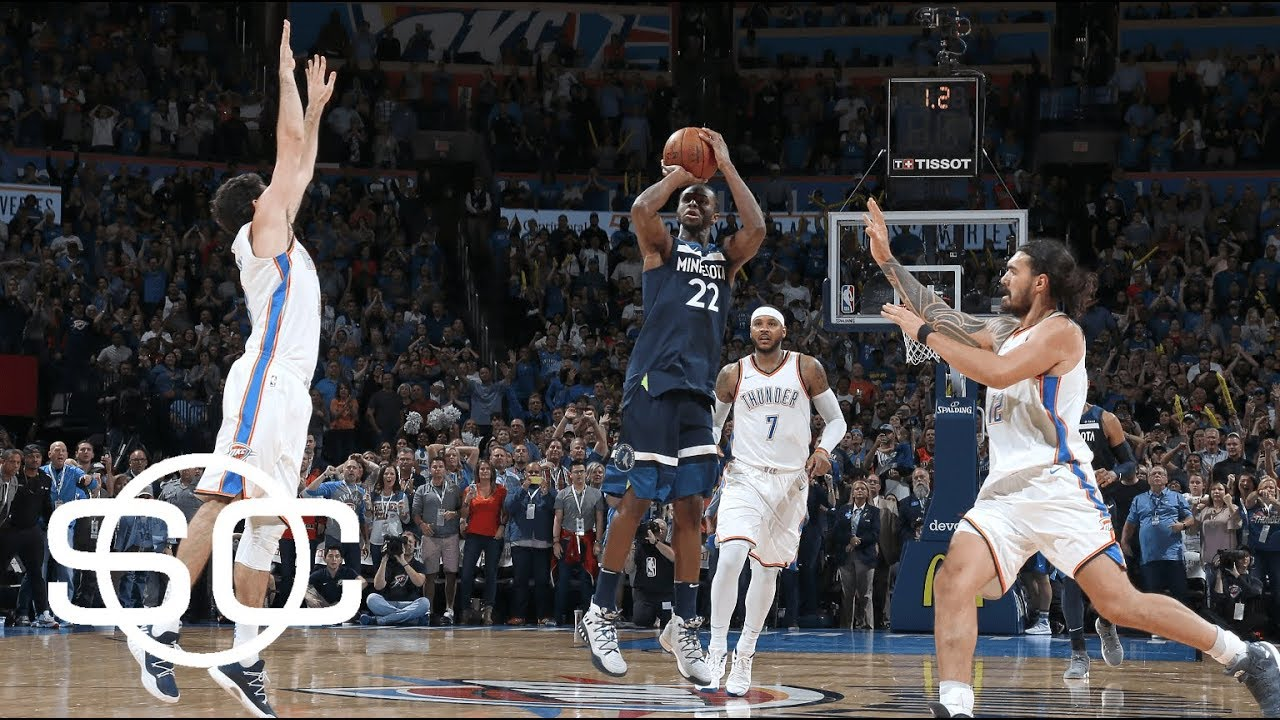 Andrew Wiggins' buzzer beater gives Timberwolves win vs. Thunder | SportsCenter | ESPN