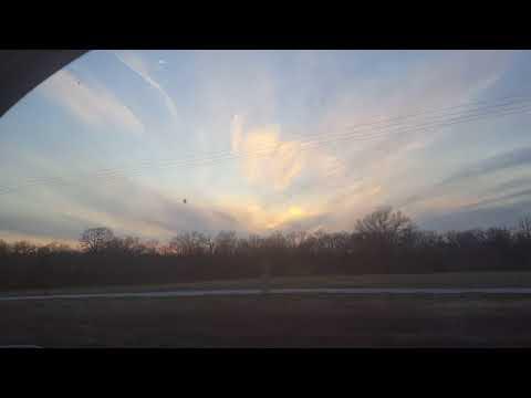 Sun set headed home from church 3/21/18