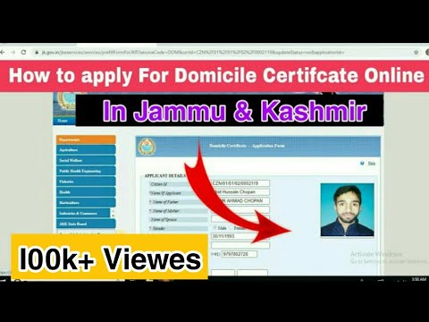 How to Apply For Domicile Certificate Online in J&K