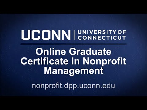 UConn Online Graduate Certificate in Nonprofit Management - YouTube
