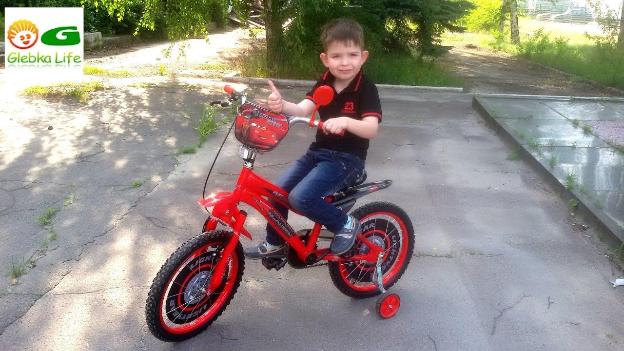 Детский велосипед. У Глебки обновка, велосипед МАКВИН.