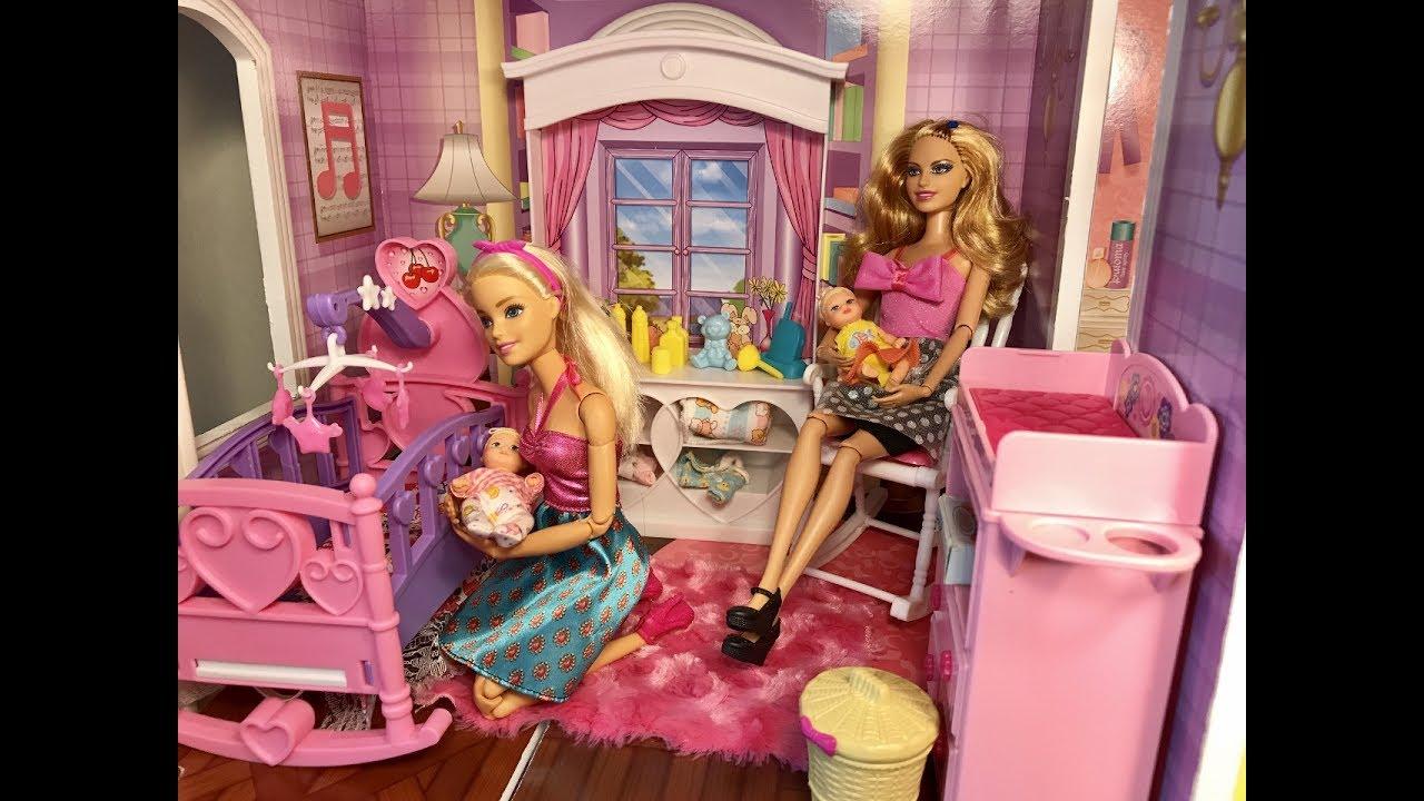 Barbie Baby Nursery Set Haley Ally Lily Youtube