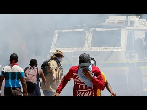 Clashes between students and Police in South Africa