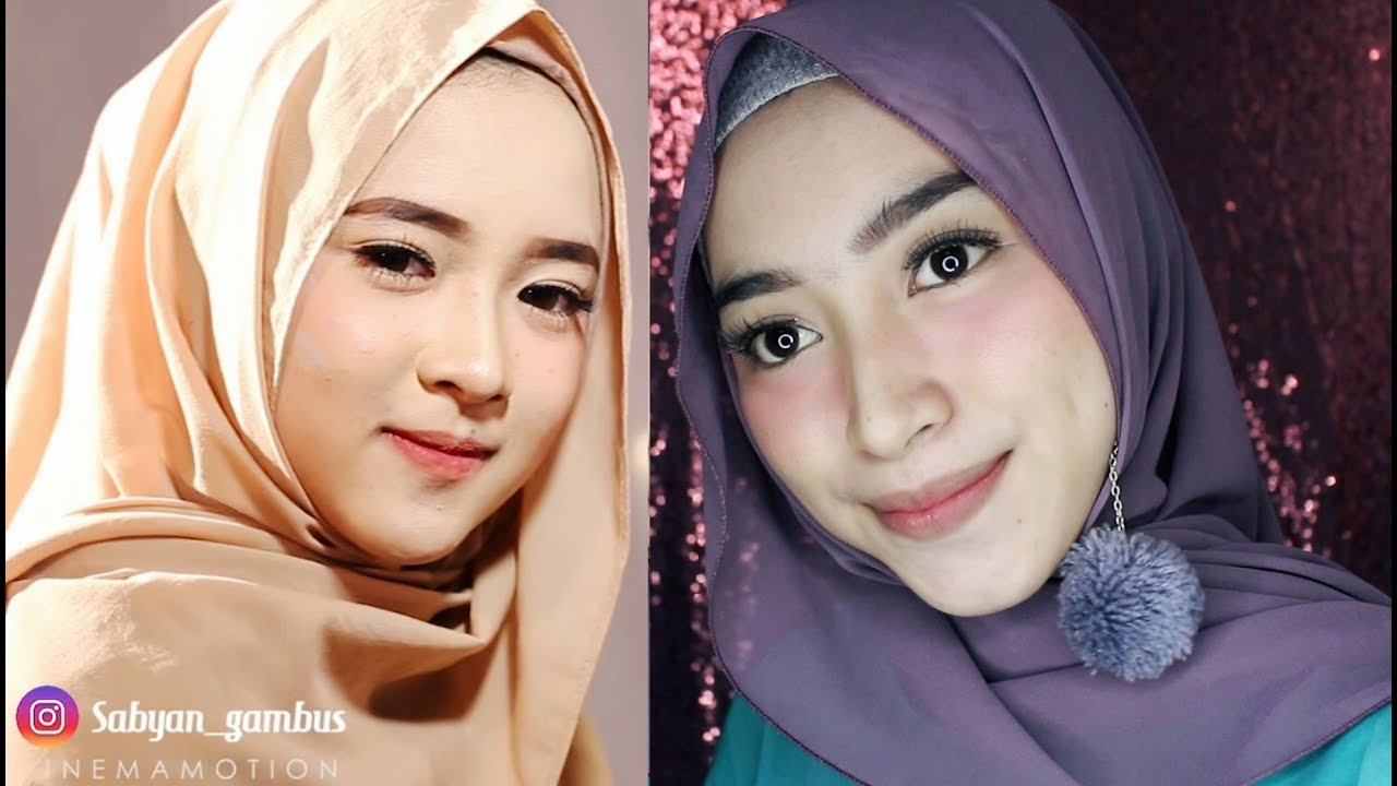 tutorial make up kekinian ala nissa sabyan 2018 - youtube