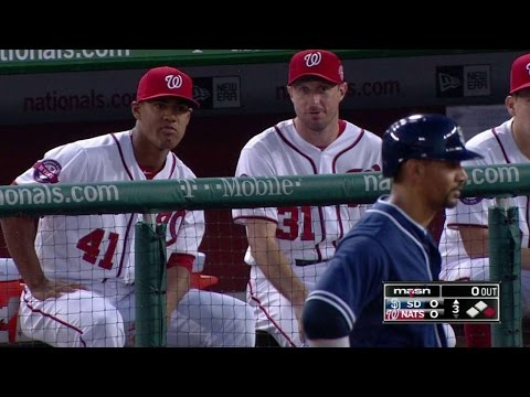 SD@WSH: Joe Ross laughs after his brother's single