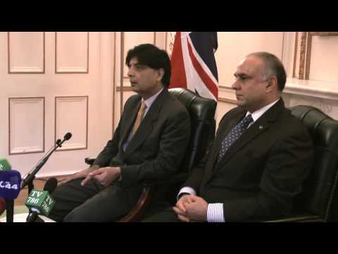 Pakistan's Minister of Interior Chaudhry Nisar's Interaction with Media At Pakistan High Commission