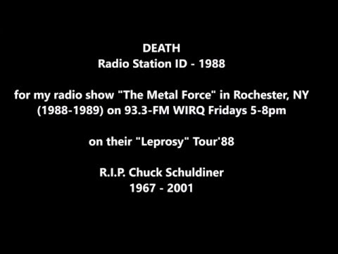 "DEATH -  ""The Metal Force"" radio show ID 1988 Rochester, NY"