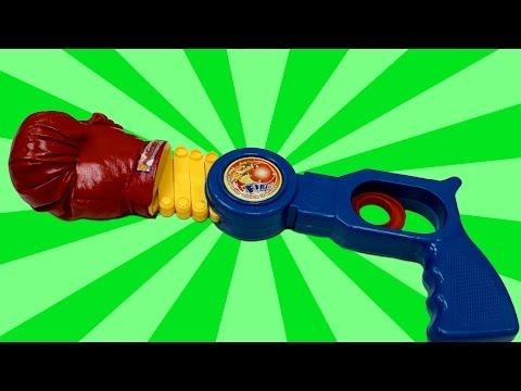 Daiso Extending Boxing Glove Toy Gun unboxing
