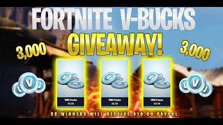 FORTNITE VBUCK GIVEAWAY! (PS4, XBOX, PC, MOBILE, NINTENDO and More!)