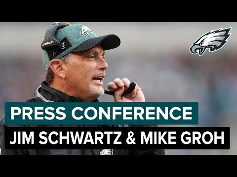 Jim Schwartz & Mike Groh Discuss New NFL Rules, Carson Wentz & More | Eagles Press Conference