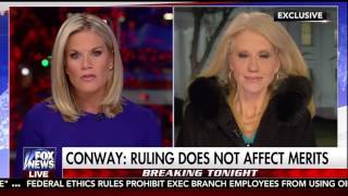 "Kellyanne Conway weighs in on 9th Circuit Appeals court and being ""counseled"""