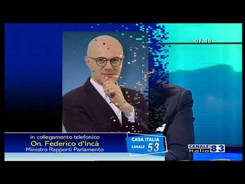 Federico D'Incà ospite a Canale Italia il 27/03/20