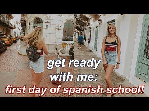 first day of SPANISH school GRWM