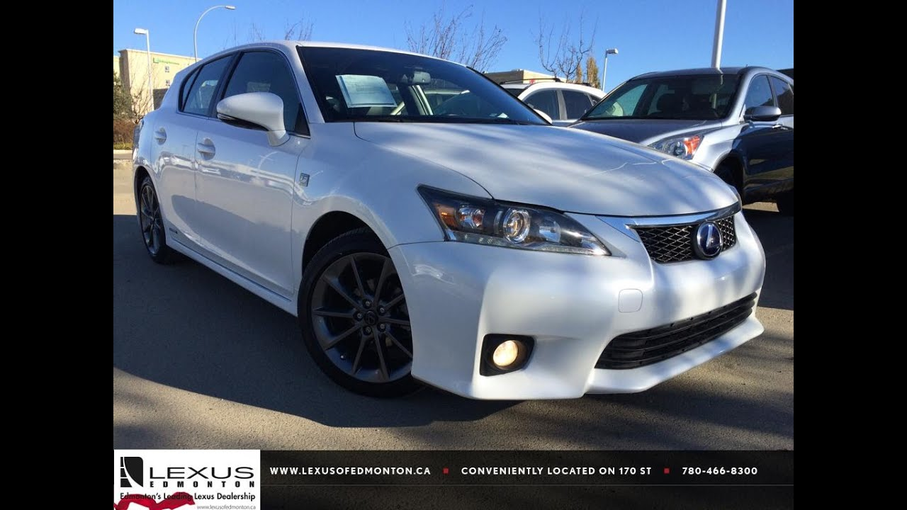 used white 2012 lexus ct 200h fwd hybrid f sport review athabasca alberta youtube. Black Bedroom Furniture Sets. Home Design Ideas
