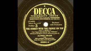 ALFRED DRAKE - THE SURREY WITH THE FRINGE ON TOP