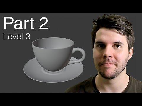 Blender Beginner Tutorial Level 3 - Part 2: Complete Modelling thumbnail
