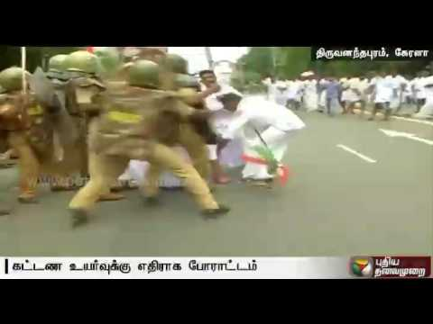 Kerala medical fee hike issue: Police lathi-charge protesting Congress members