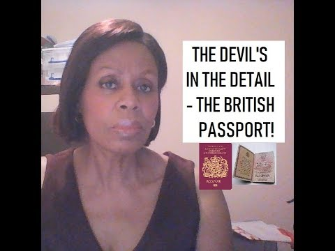 The Devil is in the Detail  - The British Passport