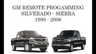 how to program gm silverado sierra keyless remote transmitter