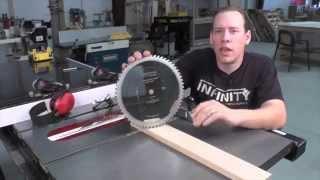Infinity Cutting Tools - Fine Cross Cutting Saw Blade