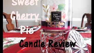 Sweet Cherry Pie|  Bath and Body Works Candle Review 🍒 | Southren Comfort