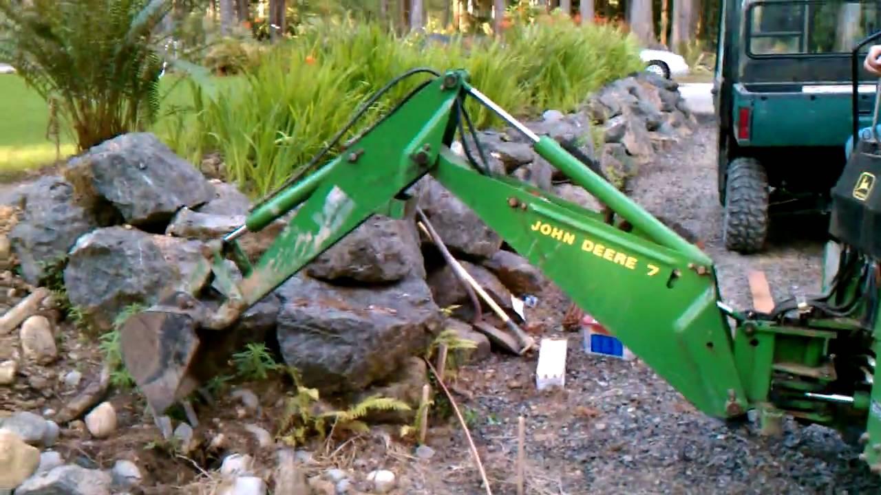 Max Pullcord John Deere 7 Backhoe Mini Excavator Youtube