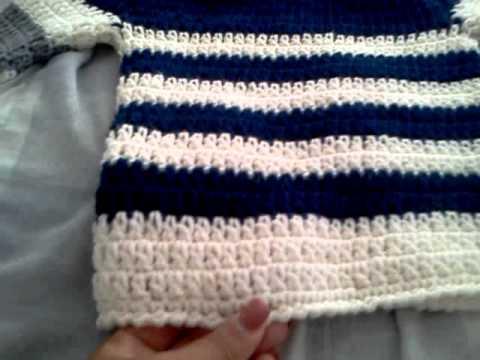 8f13ff8ab4e1 crochet boy sweater  abrigo tejido - YouTube