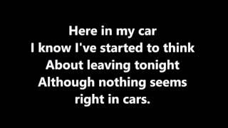 Gary Numan - Cars Lyrics
