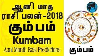 Aani matha rasi palan - Kumbam (Aquarius) 2018 | கும்பம் | ஆனி |  Aani month prediction