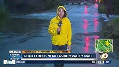 With rain in San Diego comes flooding near Fashion Valley Mall
