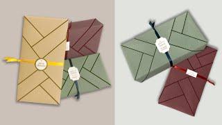 包裝禮物 | 長方形禮物包裝教學-傳統型